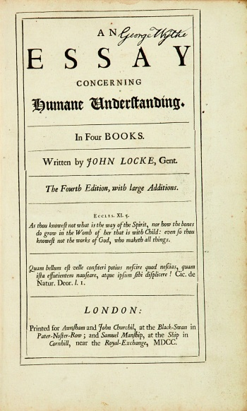 an essay concerning humane understanding wythepedia the george  title page from george wythe s personal copy of an essay concerning humane understanding london printed for awnsham and john churchil and samuel