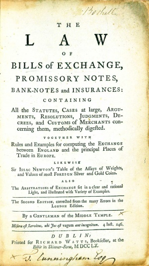 The Law Of Bills Of Exchange Promissory Notes BankNotes And