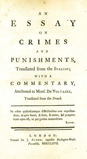 An Essay on Crimes and Punishments - Wythepedia: The George Wythe ...
