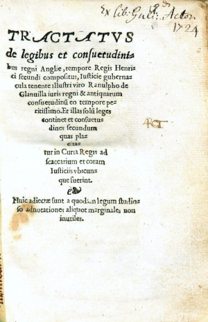 GlanvilleTractatus1554TitlePage.jpg