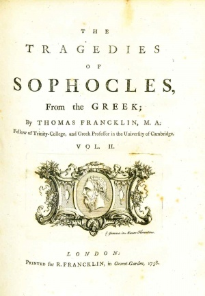 the tragedy of sophocles oedipus rex Sophocles, one of the most noted playwrights of the ancient world, wrote the  tragedy oedipus rex in the first half of the decade 430–420 bc a lethal plague  is.