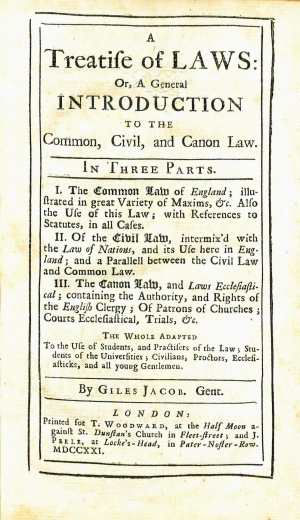 JacobATreatiseOfLaws1721Title.jpg