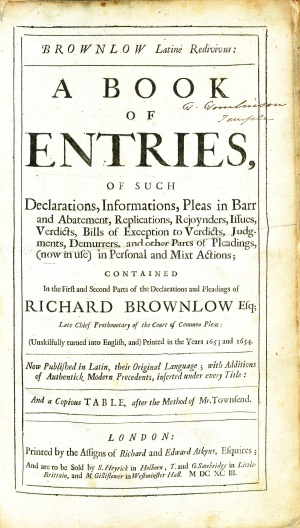 BrownlowBookOfEntries1693TitlePage.jpg