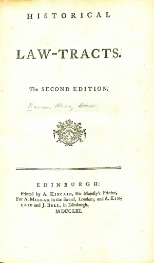 KamesHistoricalLawTracts1761TitlePage.jpg