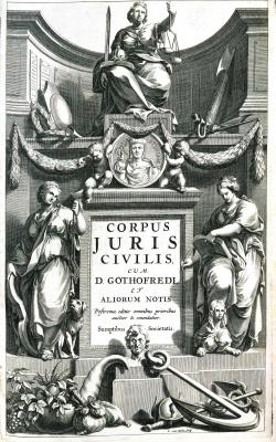 Corpus Juris Civilis: Pandectis ad Florentinum Archetypum