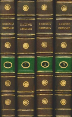 Blackstone's Commentaries on the Laws of England